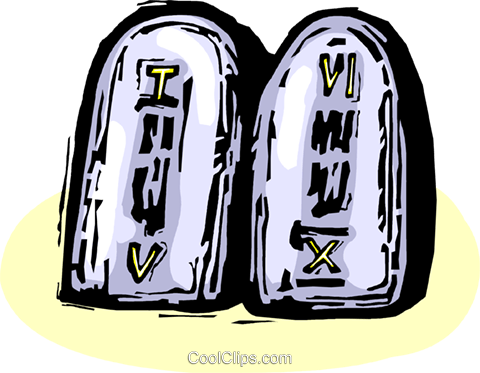 Ten Commandments Royalty Free Vector Clip Art illustration vc065869