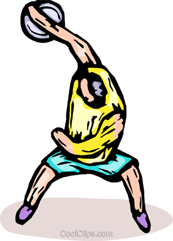 discus thrower Royalty Free Vector Clip Art illustration vc065907