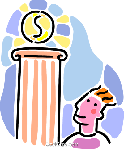 man admiring financial success Royalty Free Vector Clip Art illustration vc065926