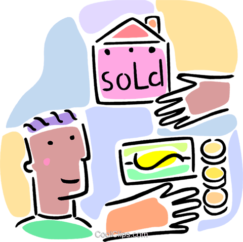 buying a home concept Royalty Free Vector Clip Art illustration vc065979