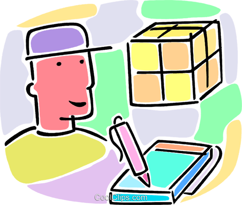shipping person with courier package royalty free vector clip art rh search coolclips com shipping clip art free shopping clip art pictures
