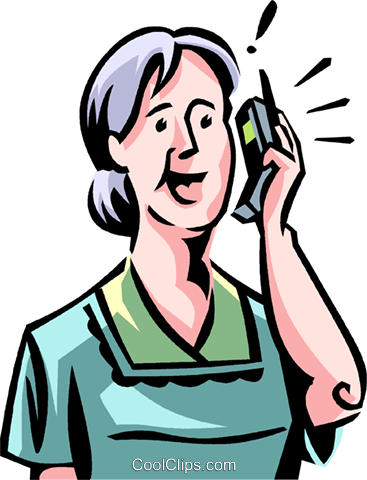 People on Cellular Phones Royalty Free Vector Clip Art illustration vc066075