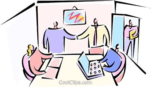 two people shaking hands Royalty Free Vector Clip Art illustration vc066164
