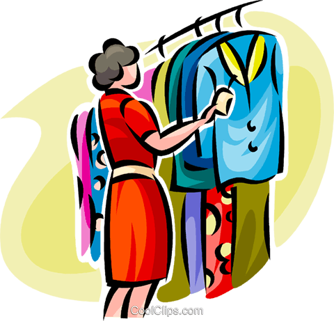 woman shopping for clothes royalty free vector clip art illustration rh search coolclips com Hair Brush Clip Art Toys Clip Art