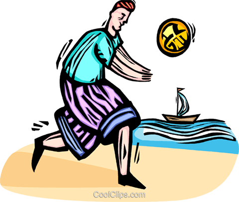 man playing beach volleyball royalty free vector clip art rh search coolclips com