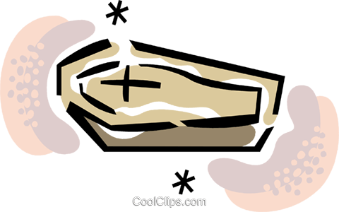 Coffins Royalty Free Vector Clip Art illustration vc067918