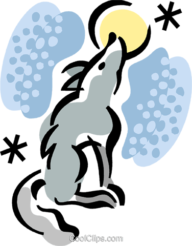 Wolves Royalty Free Vector Clip Art illustration vc067956