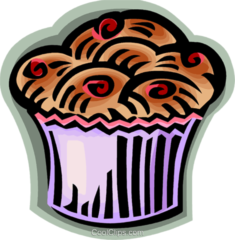 muffin Royalty Free Vector Clip Art illustration vc067976