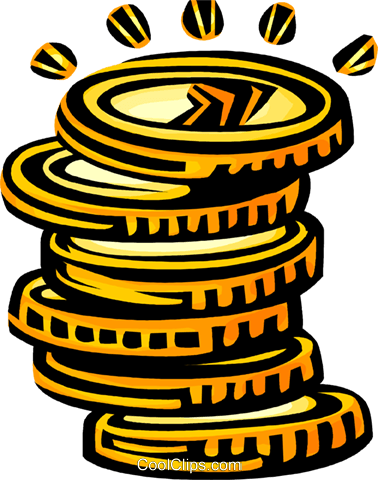 coins Royalty Free Vector Clip Art illustration vc068051