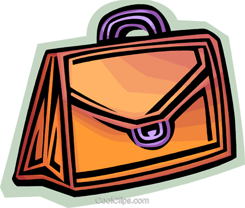 Briefcases Royalty Free Vector Clip Art illustration vc068078