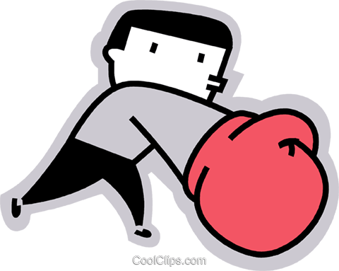 Boxer sparring Royalty Free Vector Clip Art illustration vc068189