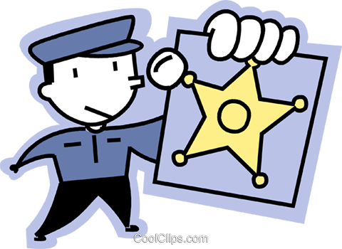 Officers of the Law and Police Royalty Free Vector Clip Art illustration vc068207