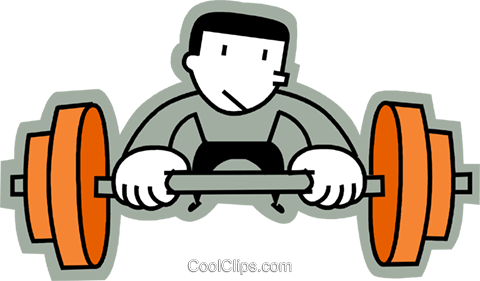 Bodybuilding and Weight lifting Royalty Free Vector Clip Art illustration vc068209