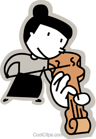 Violinists Royalty Free Vector Clip Art illustration vc068213