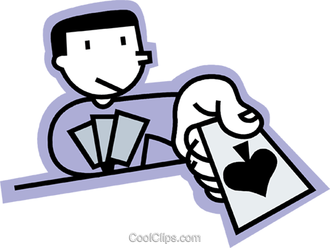Playing Cards Royalty Free Vector Clip Art illustration vc068235
