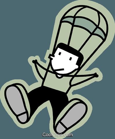 跳伞 免版税矢量剪贴画插图