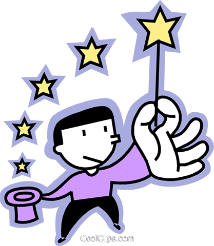 Magicians Royalty Free Vector Clip Art illustration vc068305