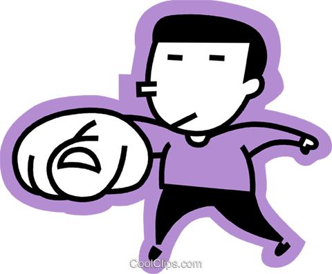 man pointing his finger Royalty Free Vector Clip Art illustration vc068312