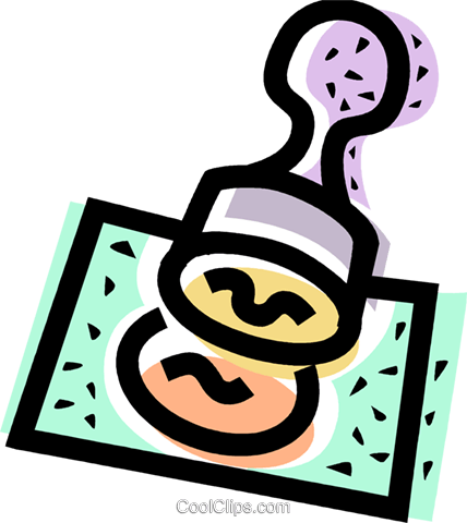rubber stamp Royalty Free Vector Clip Art illustration vc068398