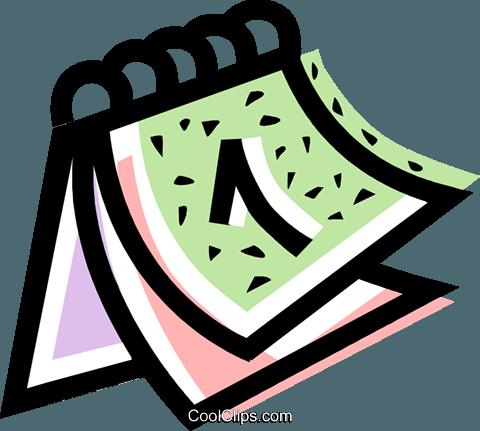 Calendario libres de derechos ilustraciones de vectores for Clipart calendario