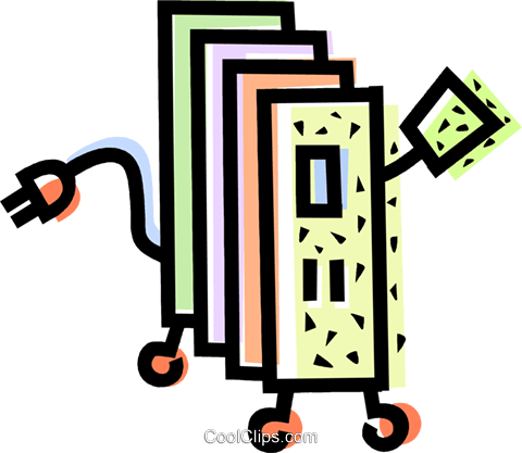 Electric Heater Royalty Free Vector Clip Art illustration vc068580
