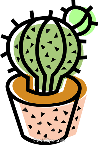 Cactus Royalty Free Vector Clip Art illustration vc068690