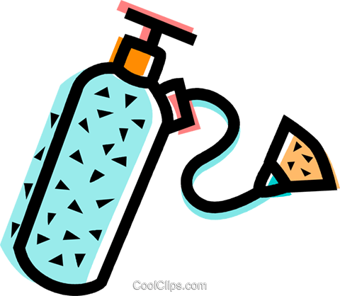 Oxygen Equipment Royalty Free Vector Clip Art illustration vc068790
