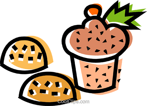 muffin and cookies Royalty Free Vector Clip Art illustration vc068813