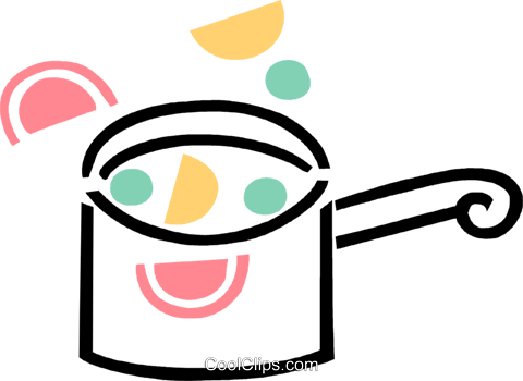 Pots and Pans Royalty Free Vector Clip Art illustration vc069014