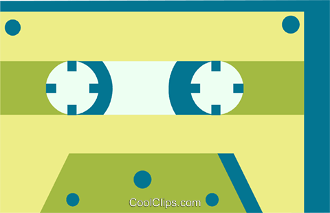Cassette Tapes Royalty Free Vector Clip Art illustration vc069050