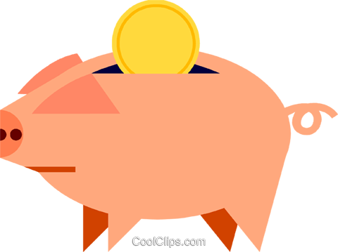 Piggy Banks Royalty Free Vector Clip Art illustration vc069064