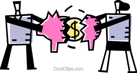 Piggy Banks Royalty Free Vector Clip Art illustration vc069092