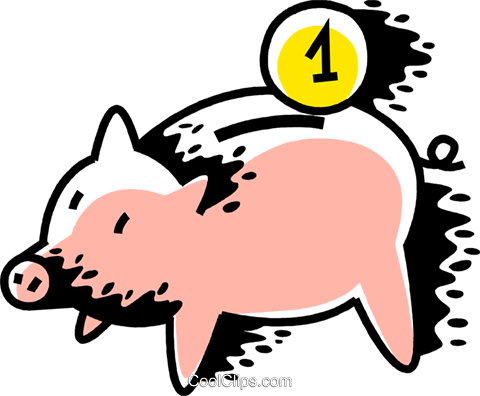 Piggy Bank Royalty Free Vector Clip Art illustration vc069177
