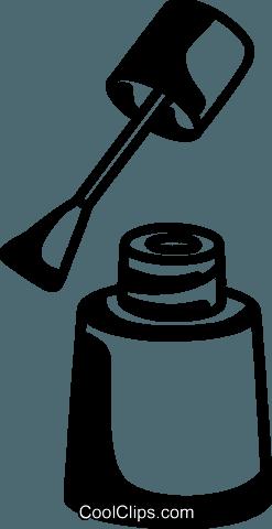 nail polish royalty free vector clip art illustration