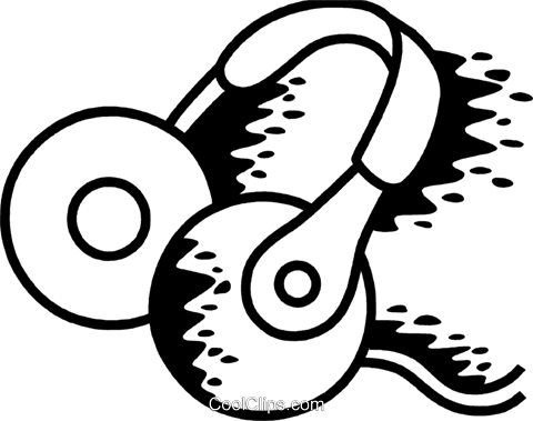 Headphones Royalty Free Vector Clip Art illustration vc069242