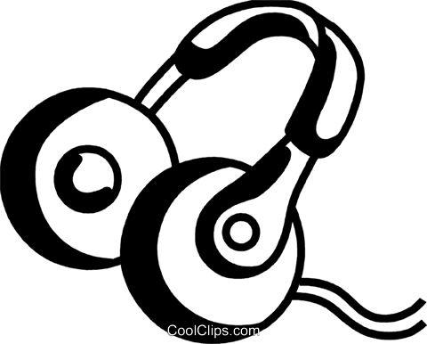 Headphones Royalty Free Vector Clip Art illustration vc069243