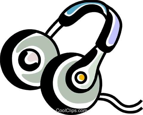 Headphones Royalty Free Vector Clip Art illustration vc069244