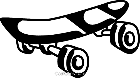 Skateboard Royalty Free Vector Clip Art illustration vc069339