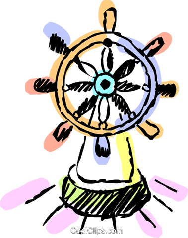 Captains wheel Royalty Free Vector Clip Art illustration vc069439
