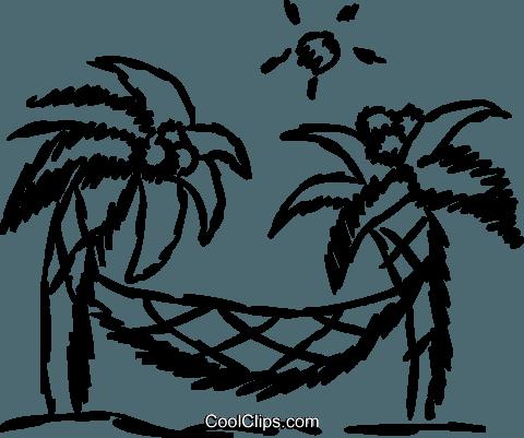 Strand clipart schwarz weiß  Relaxen am Strand Vektor Clipart Bild -vc069614-CoolCLIPS.com