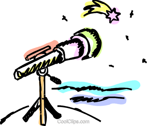 Telescopes Royalty Free Vector Clip Art illustration vc069682