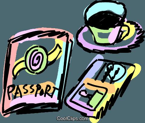 护照 免版税矢量剪贴画插图