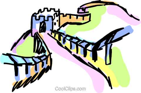 great wall of china royalty free vector clip art illustration rh search coolclips com free clipart great wall of china free clipart great wall of china
