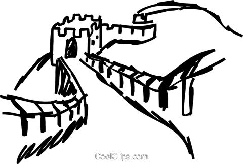 great wall of china royalty free vector clip art illustration rh search coolclips com great wall of china drawing clipart great wall of china clipart border