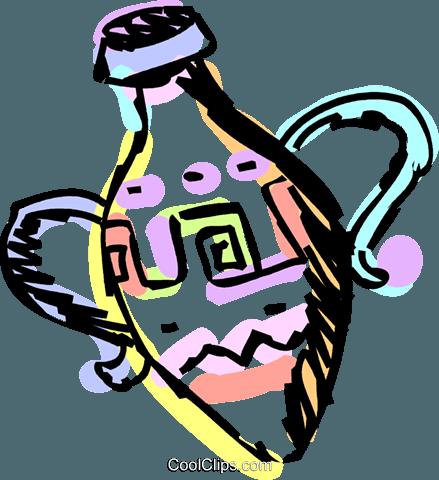 花瓶 免版税矢量剪贴画插图