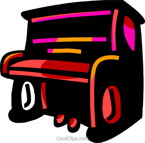 Pianos Royalty Free Vector Clip Art illustration vc069933