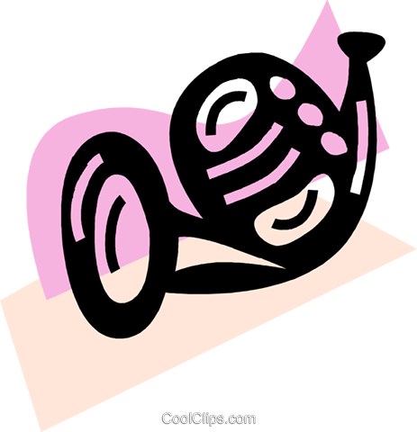 French Horns Royalty Free Vector Clip Art illustration vc069952