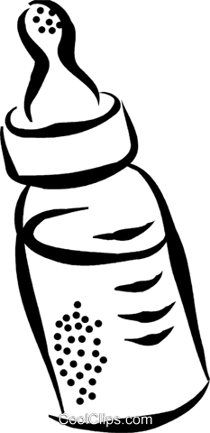 baby bottle Royalty Free Vector Clip Art illustration vc070455
