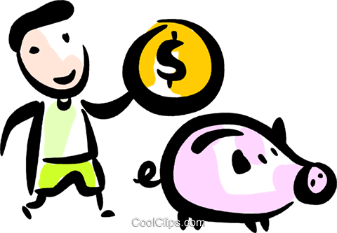 Piggy Banks Royalty Free Vector Clip Art illustration vc070576