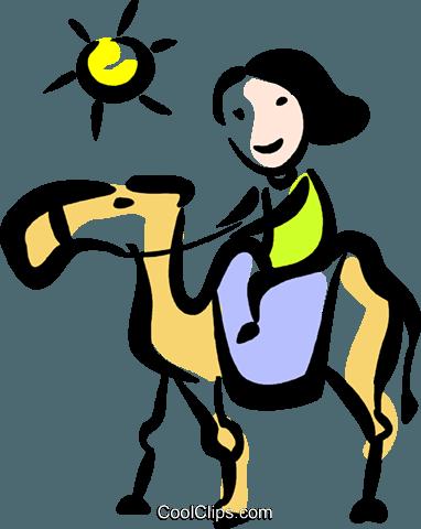 骆驼 免版税矢量剪贴画插图